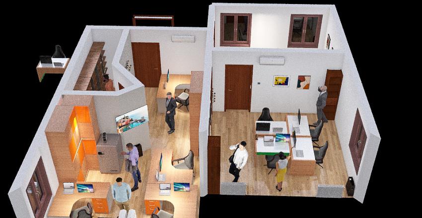 Uffici con riduzione ced Interior Design Render