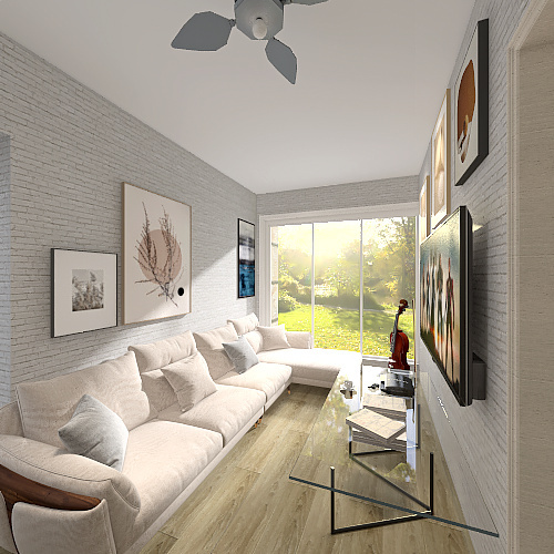 Wake,Elladia - Shipping Container Home. Interior Design Render