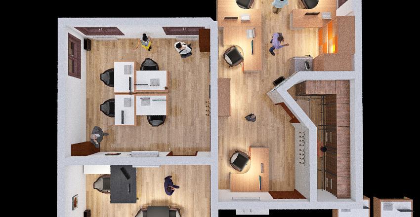 Uffici compressi Interior Design Render