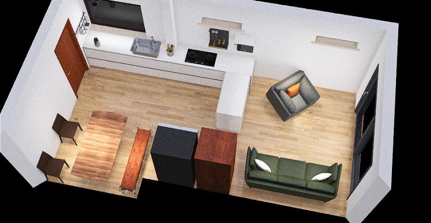 Fridge in alcove Interior Design Render