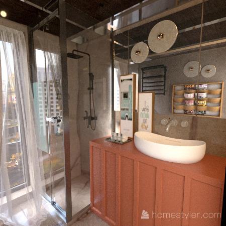 Lotto gotico, tipico di uno sviluppo residenziale in linea Interior Design Render