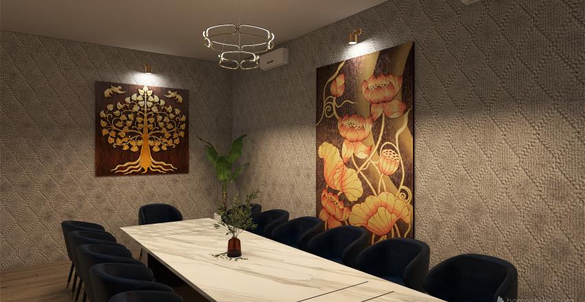 Chirawan Thai Cuisine Interior Design Render