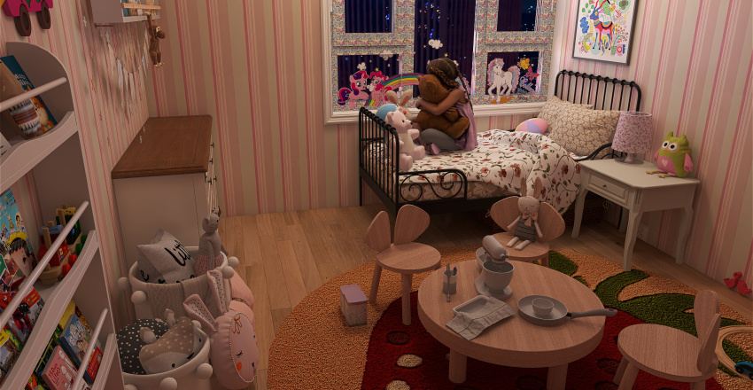Cute little room Interior Design Render