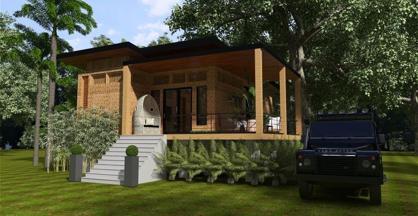 simple bahay kubo Interior Design Render