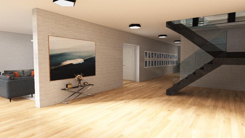 Open Floor House Interior Design Render