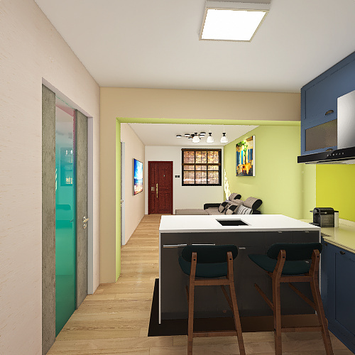 Marty's House Interior Design Render