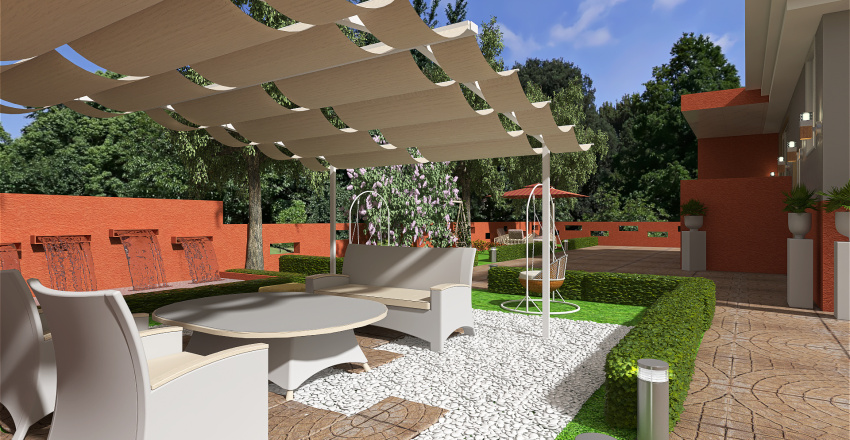 casa multilivelli Interior Design Render