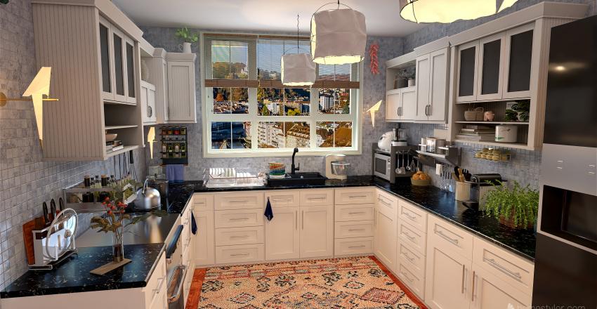 Estudio para dos Interior Design Render