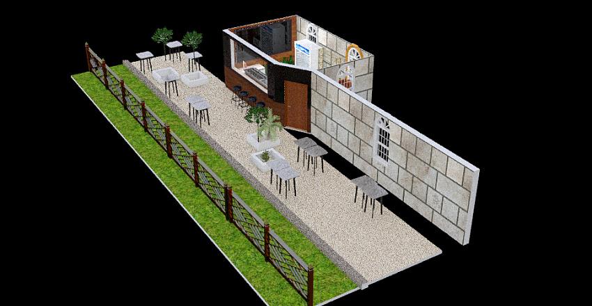 שערי צדק - BEERBAZAAR Interior Design Render