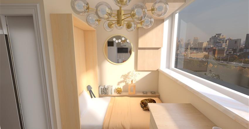 Minimum living space Interior Design Render