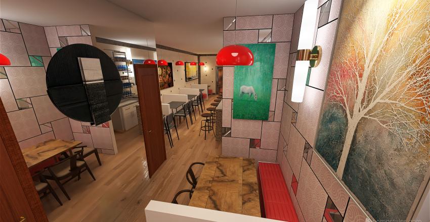 fast food interior 2 Interior Design Render