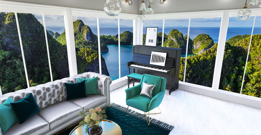 Studio on the Ocean Interior Design Render