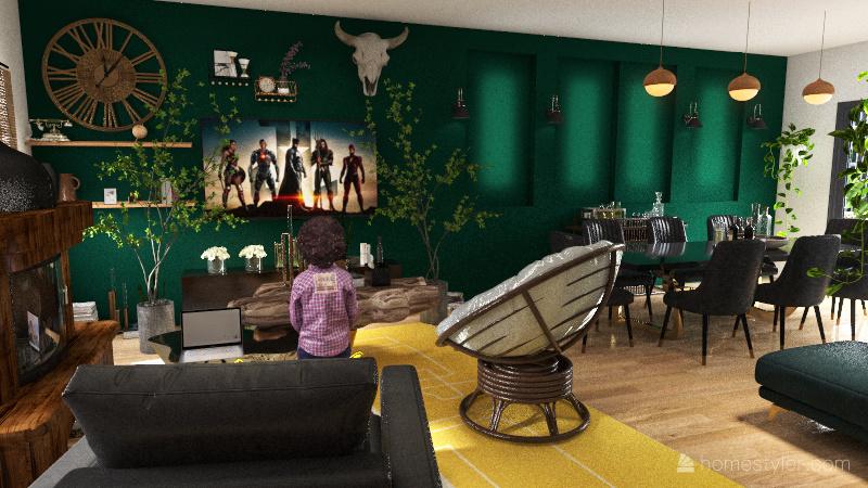 2 Bedroom Design Interior Design Render