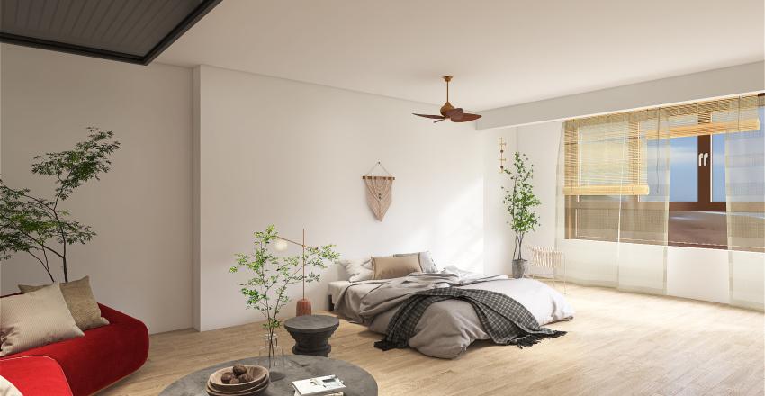 Bedroom on sea Interior Design Render