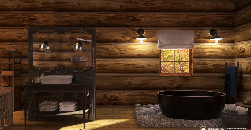 Colorado Cabin Interior Design Render