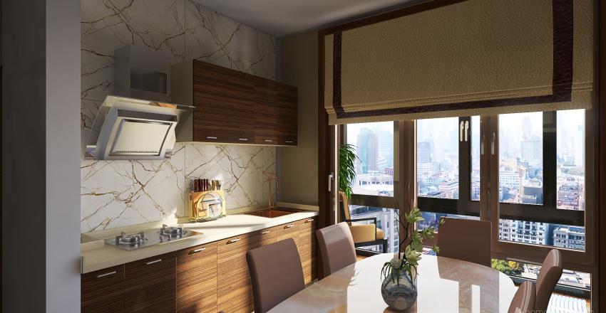 Modern small flat - Magnolia Interior Design Render