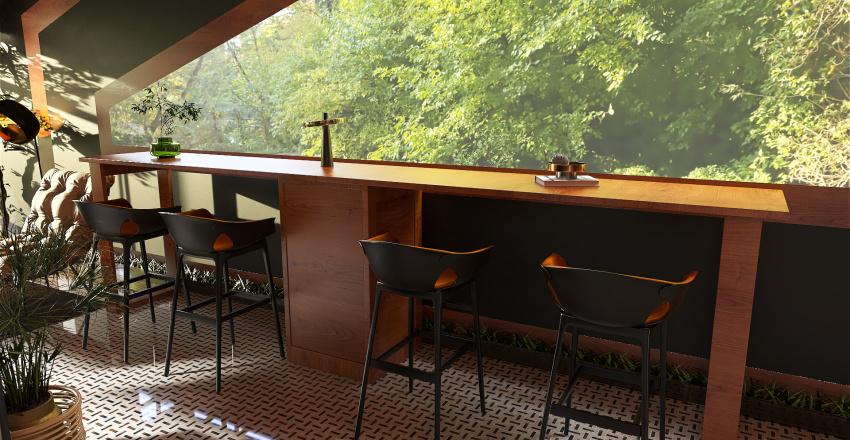 tiny triangle house Interior Design Render