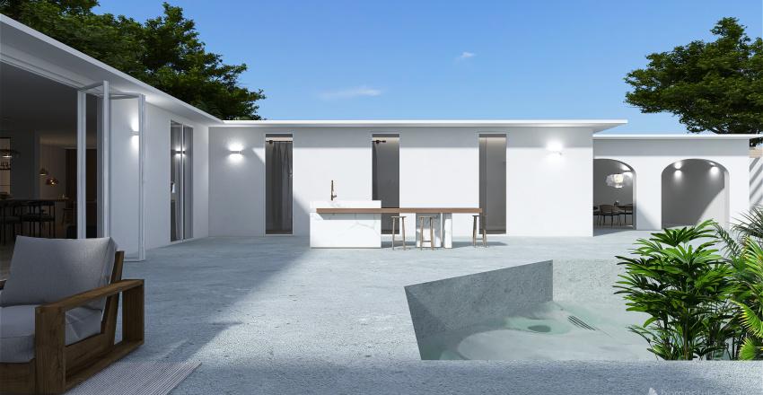On the Hill - resort villa Interior Design Render