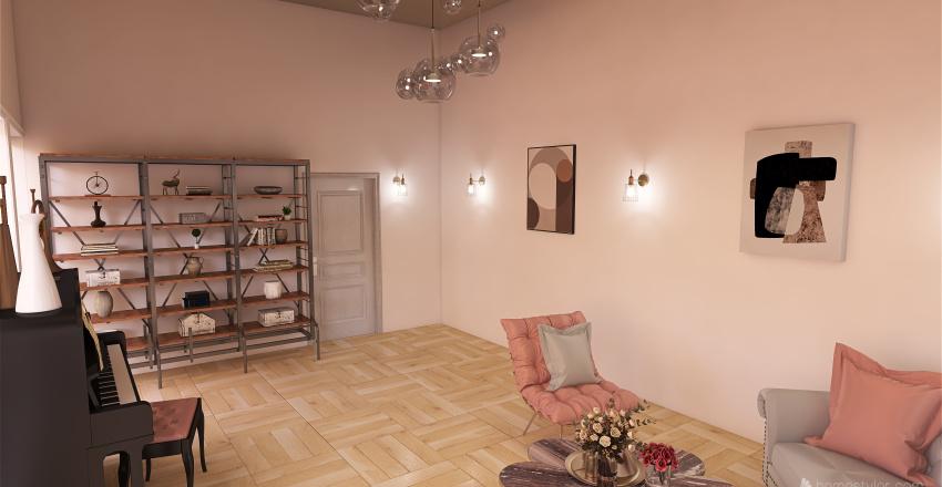 Rose Gold Studio Interior Design Render