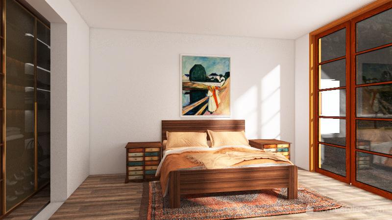 French Home Interior Design Render
