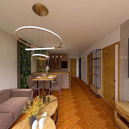 Beżowy Interior Design Render