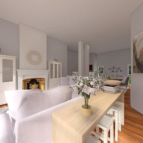 Ellis Living Area Interior Design Render