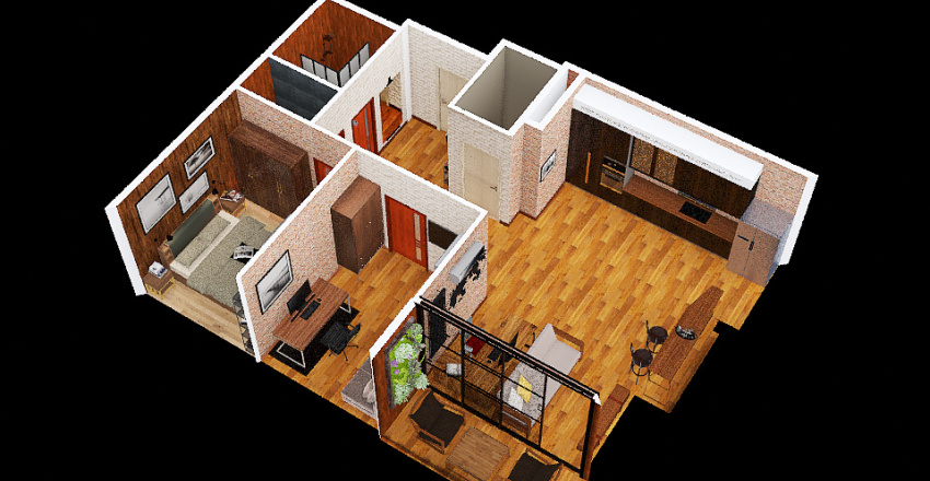 Copy of v2_manlo no balcony Interior Design Render