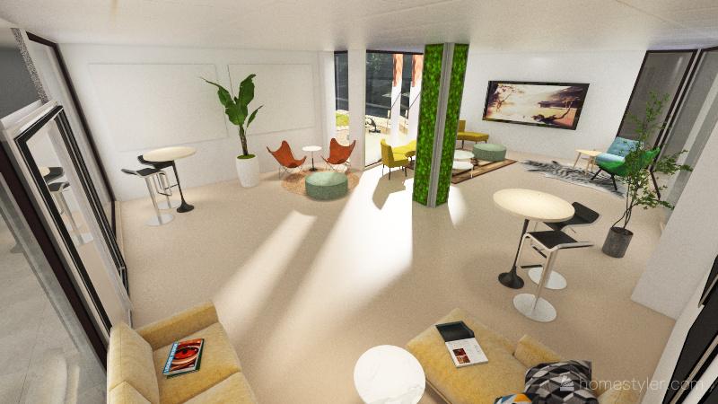 Info Room 2 - Lounge Interior Design Render