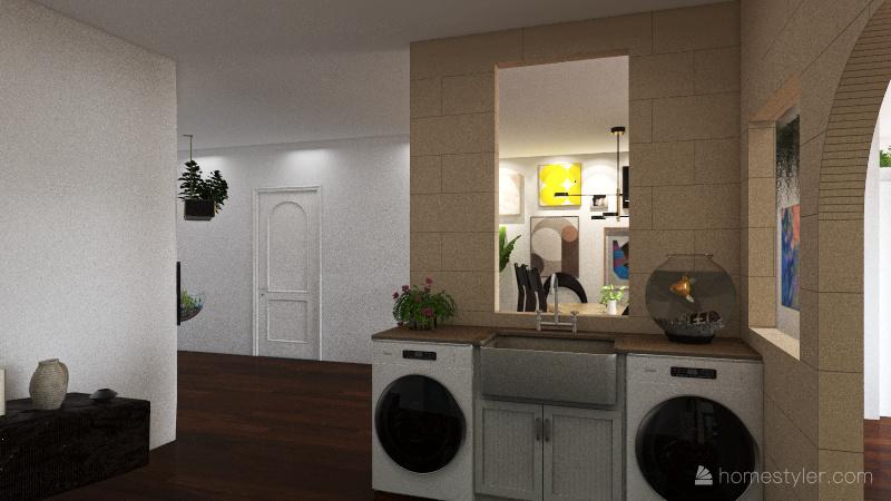 2 Bed 2 Bath. Interior Design Render
