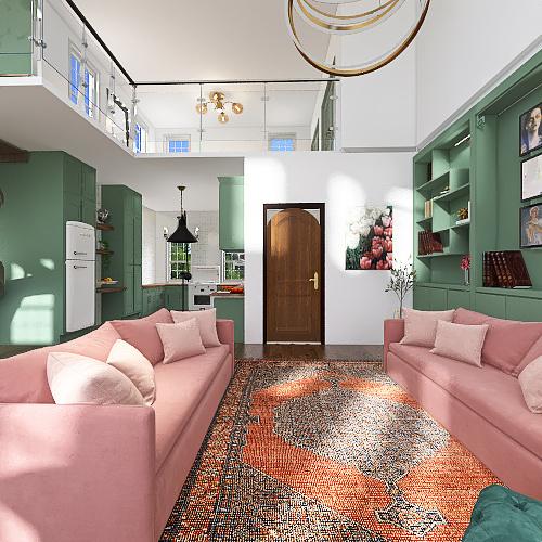 the green one Interior Design Render