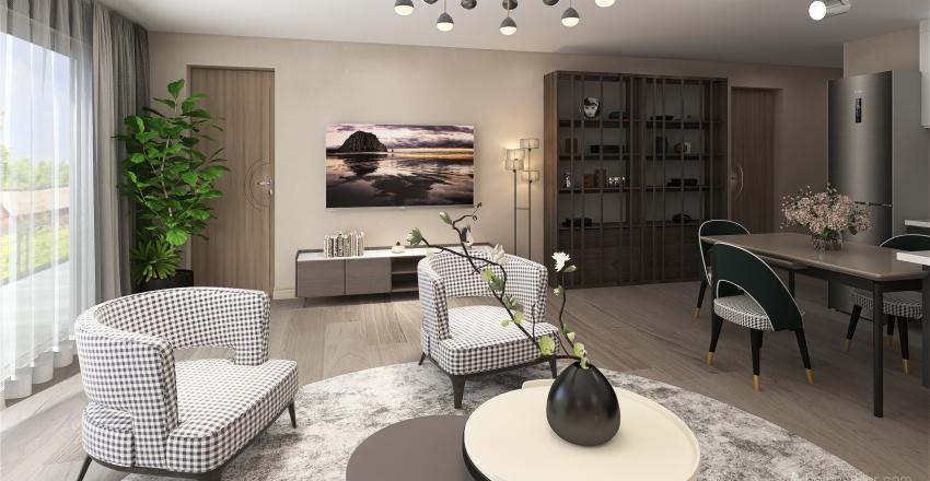 Living and Dinner room 5 Interior Design Render