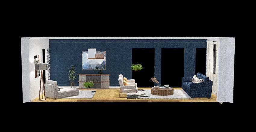 Matt & Shawn Family Room Interior Design Render