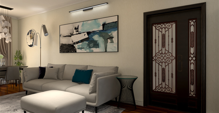 Bilocale con terrazzo Interior Design Render