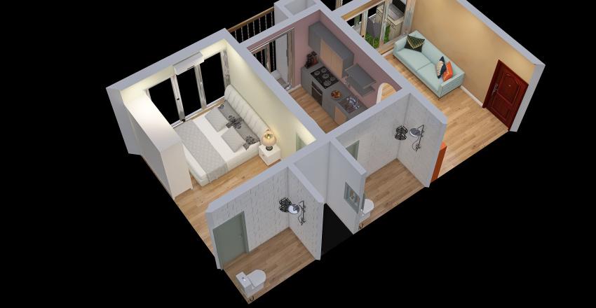 2 bedroom at the end Interior Design Render