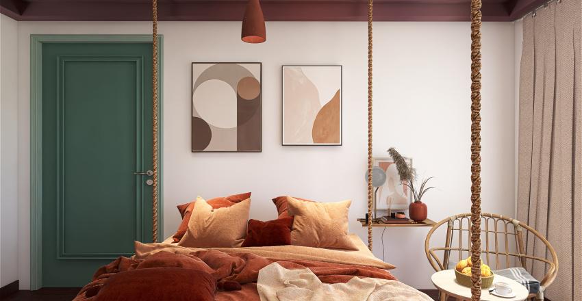 BOHEMIAN MODERN BEDROOM Interior Design Render