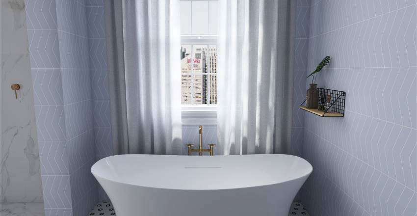 1 Bd Apartment Interior Design Render
