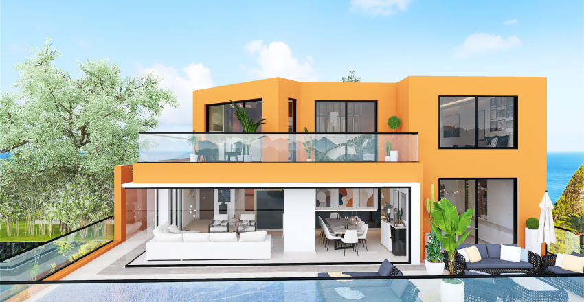 sophisticated moderne glamour Interior Design Render
