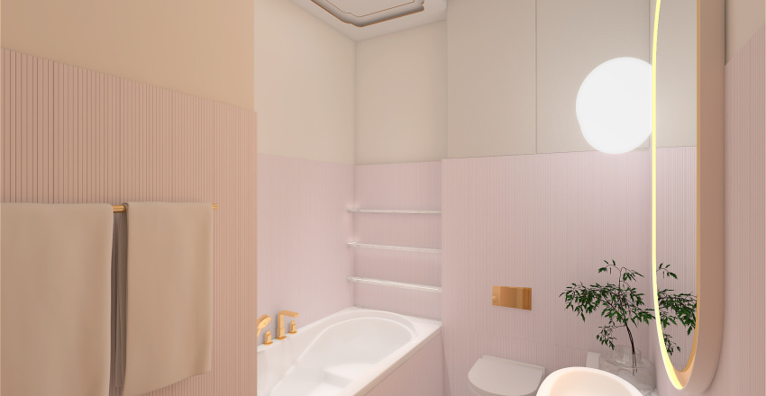 Studio for her and 2 cats Interior Design Render