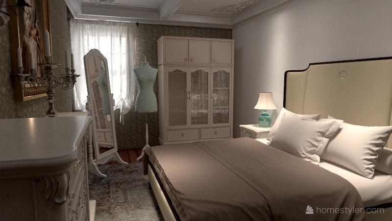 house vintage Interior Design Render