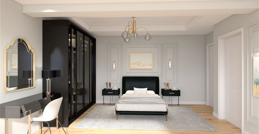 Ana Yatak Odası Interior Design Render