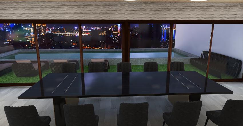 mansion en la montaña Interior Design Render