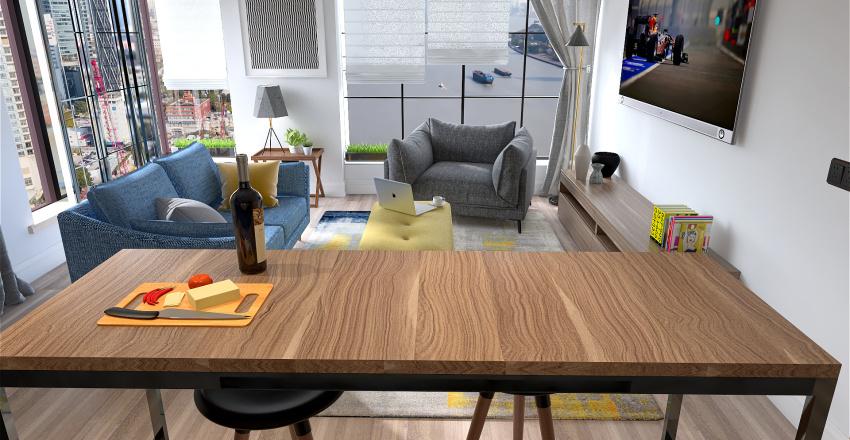 Jodie's London flat Interior Design Render