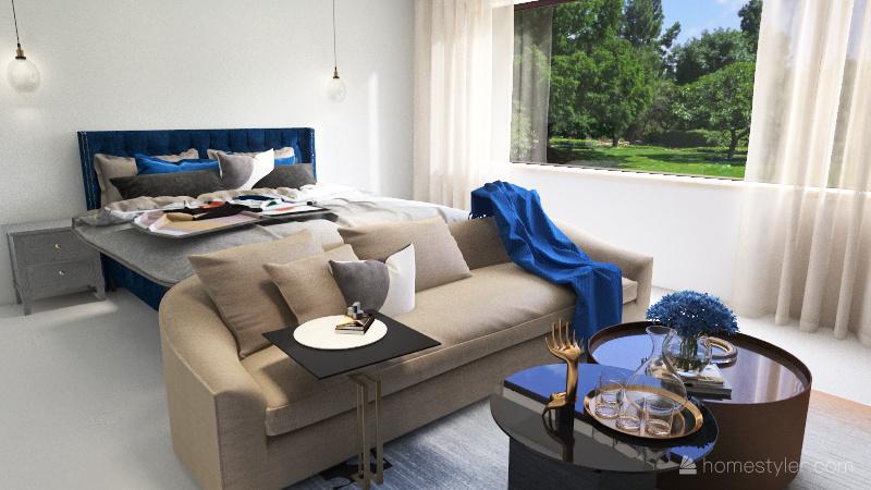 غرفة النوم Interior Design Render