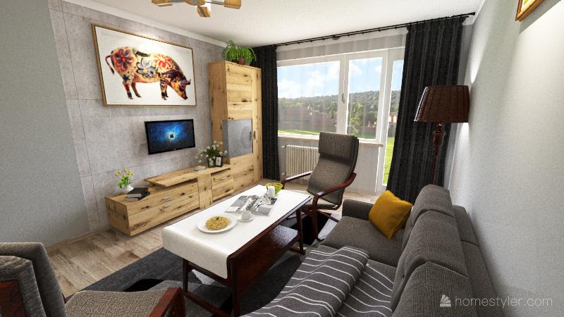 Mieszkanie - wersja B Interior Design Render