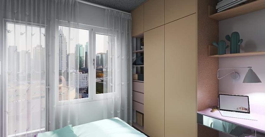 Спальня 3х3 метра Interior Design Render