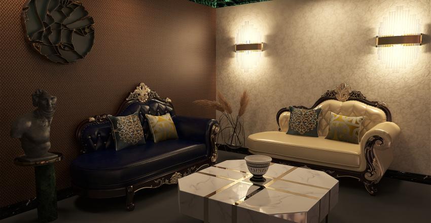 Salão Interior Design Render