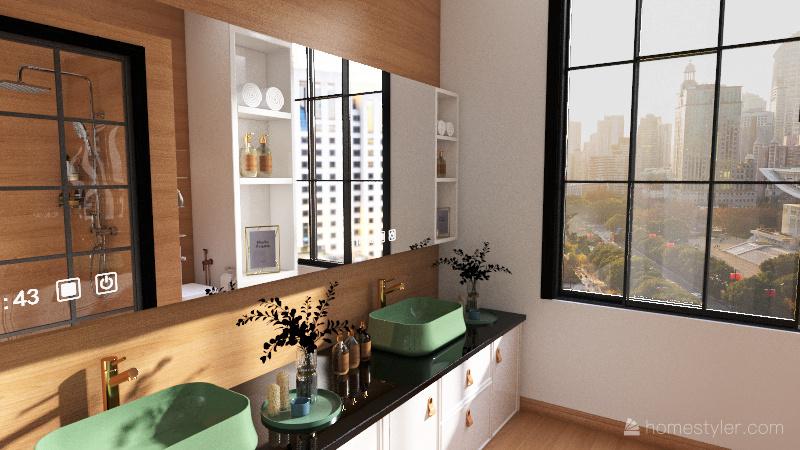 Banheiro M1 Interior Design Render