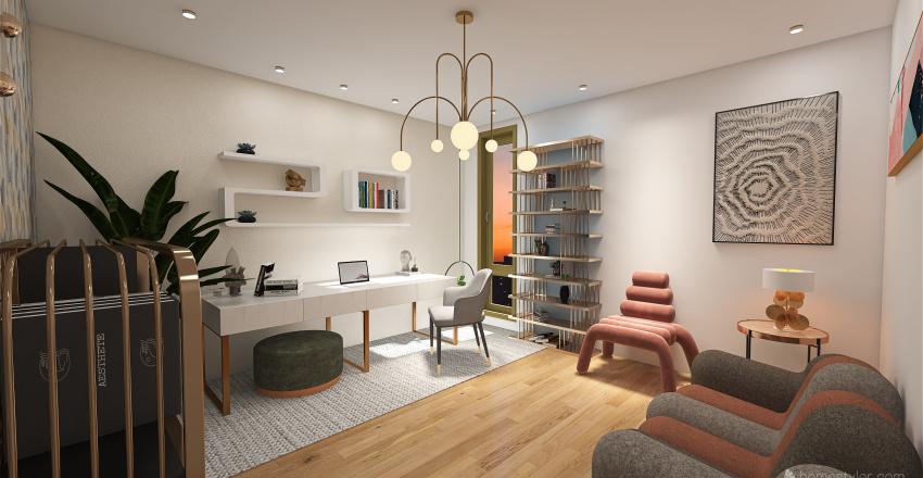 🌎 OFICINA CAMILA Interior Design Render