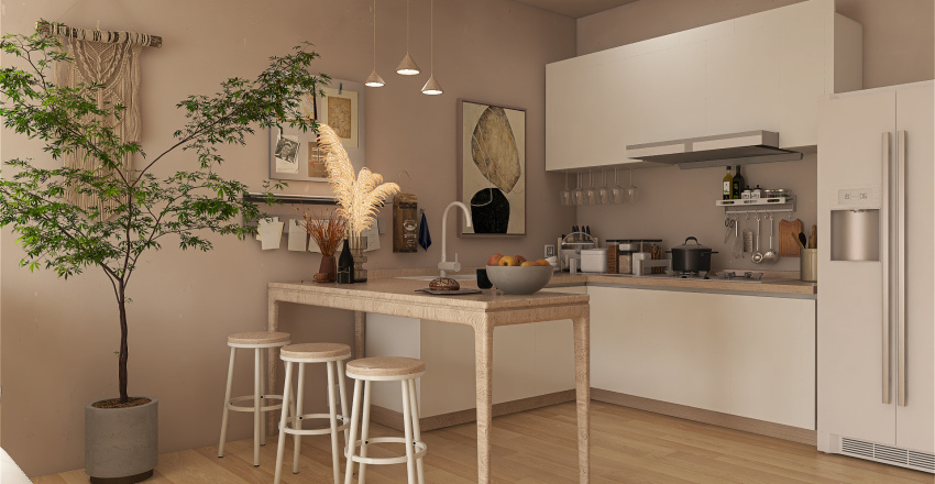 Scandi Apartment Interior Design Render