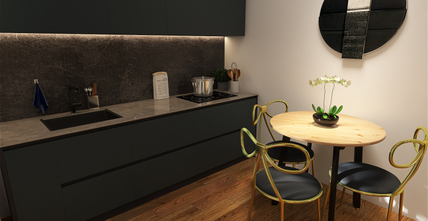 Basement small apartment Interior Design Render
